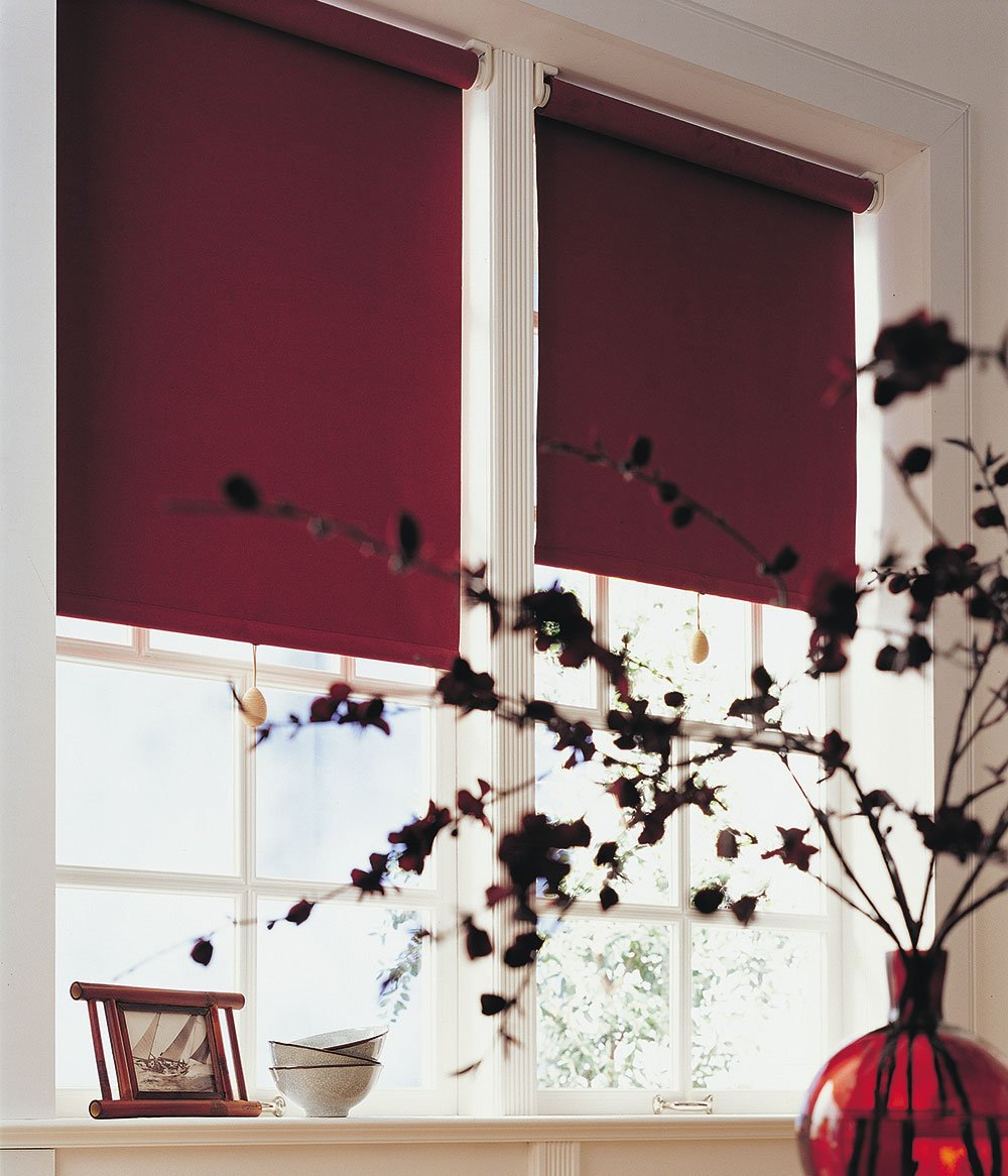 Red Roller-Blinds