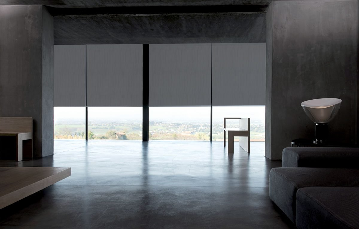Gray Dimout Blinds