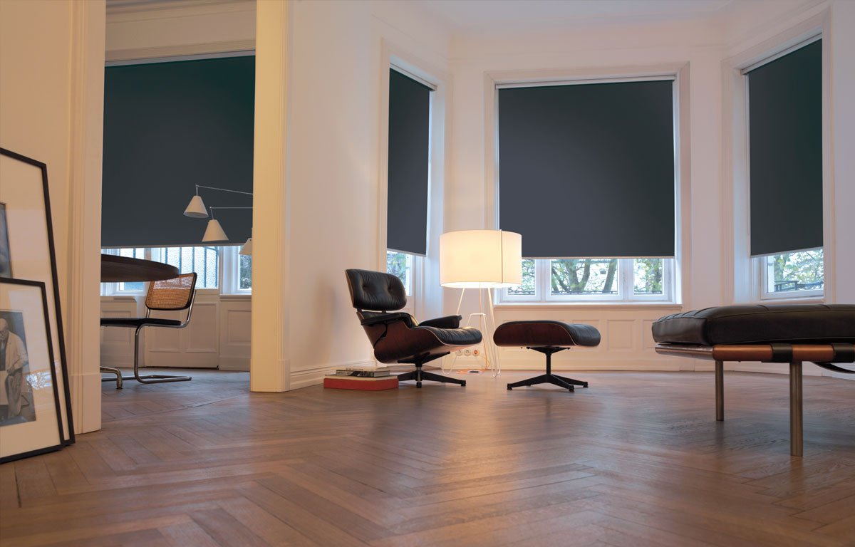 Dark Gray Dim-out Blinds