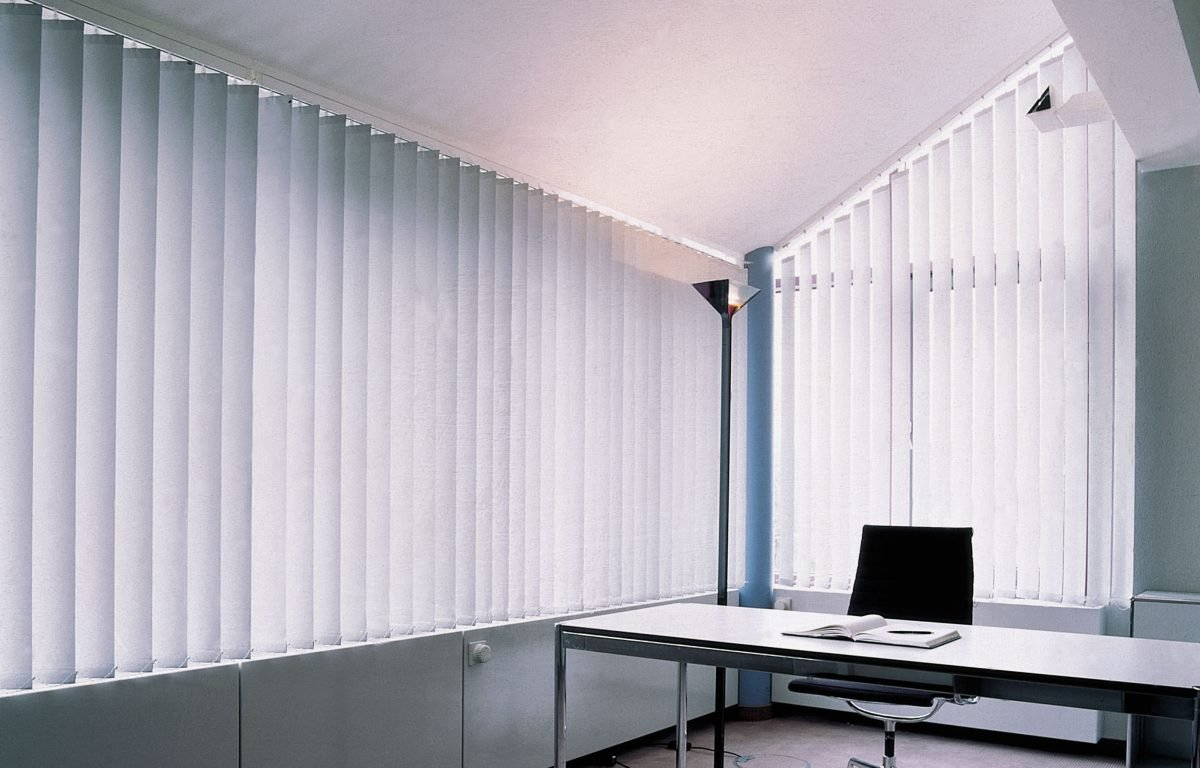 Internal Vertical Blinds in Office