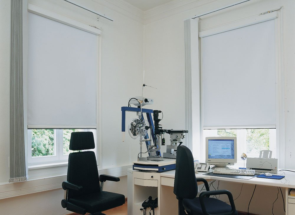 White Dim-out Blinds