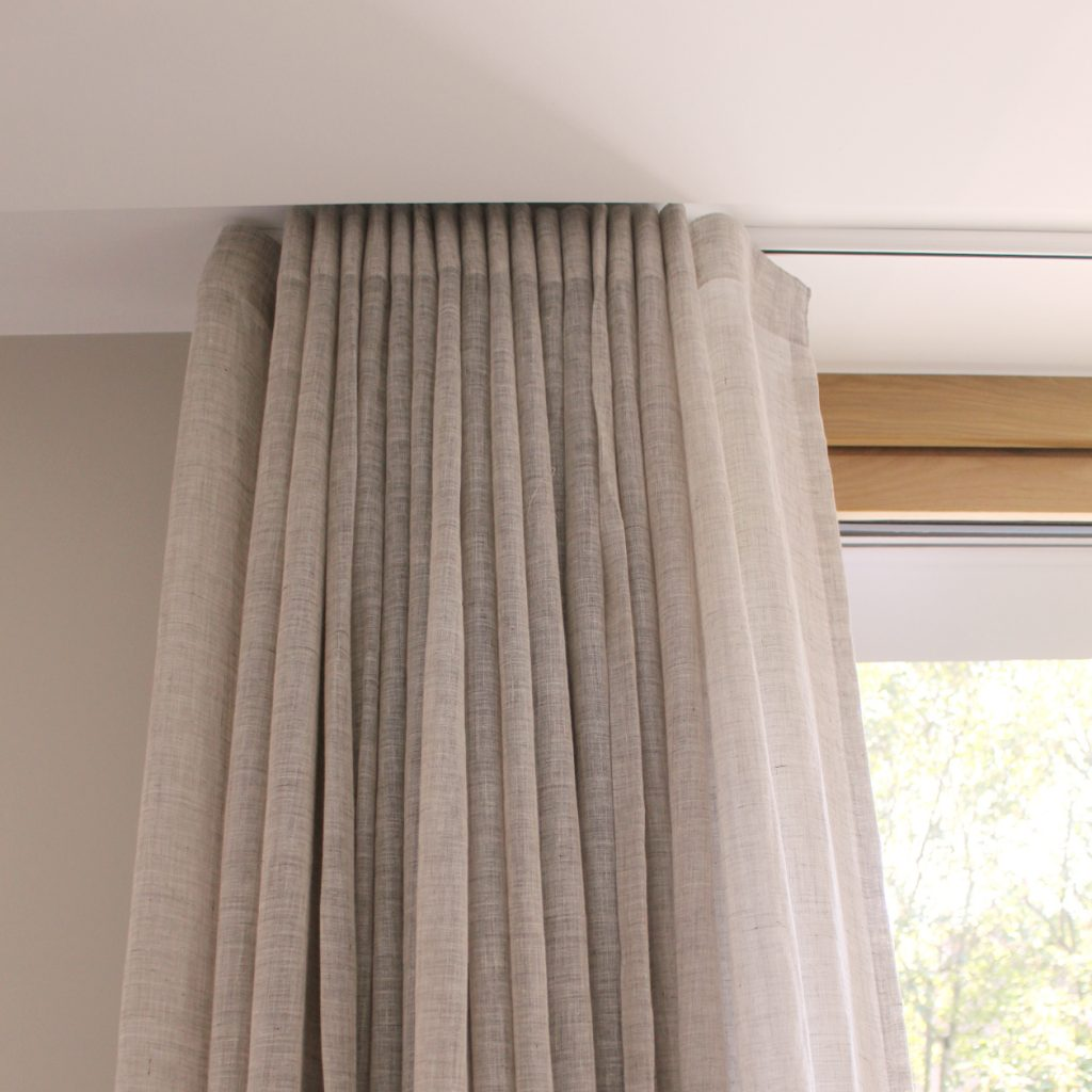 Living Room 5 - Folded Wave Curtains