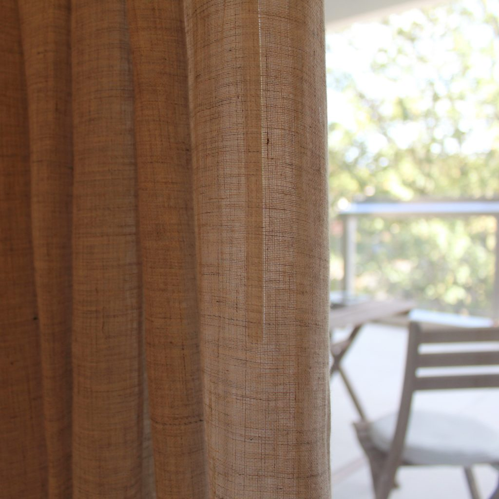 Sheer unlined Wave Curtains with draw rod