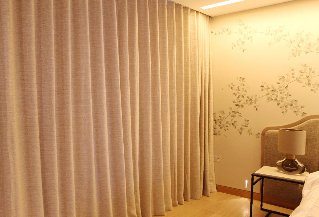 Blackout 80mm Wave lined curtains