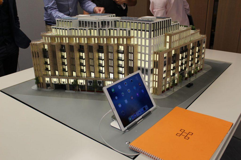 Lincoln Square miniature building - Lodha