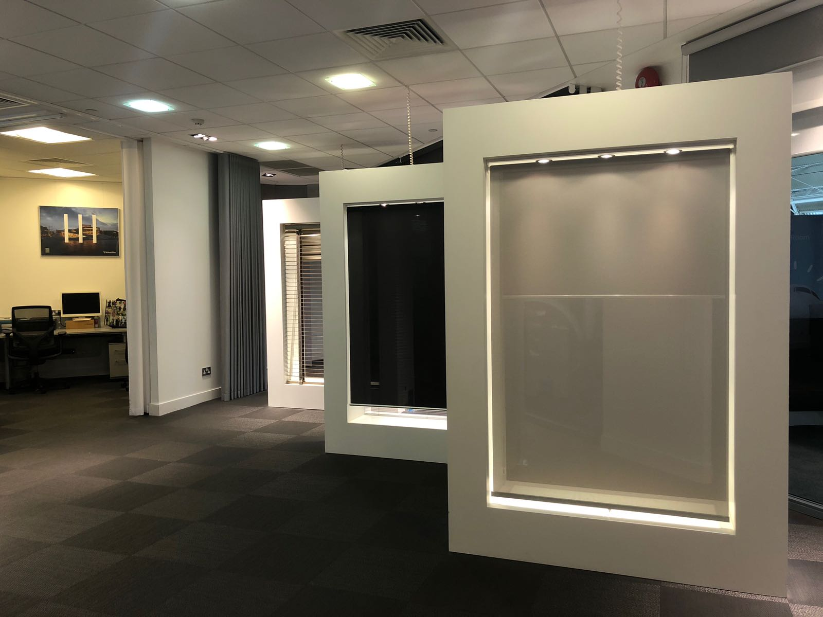 Silent Gliss Business Centre London - Blinds showcases