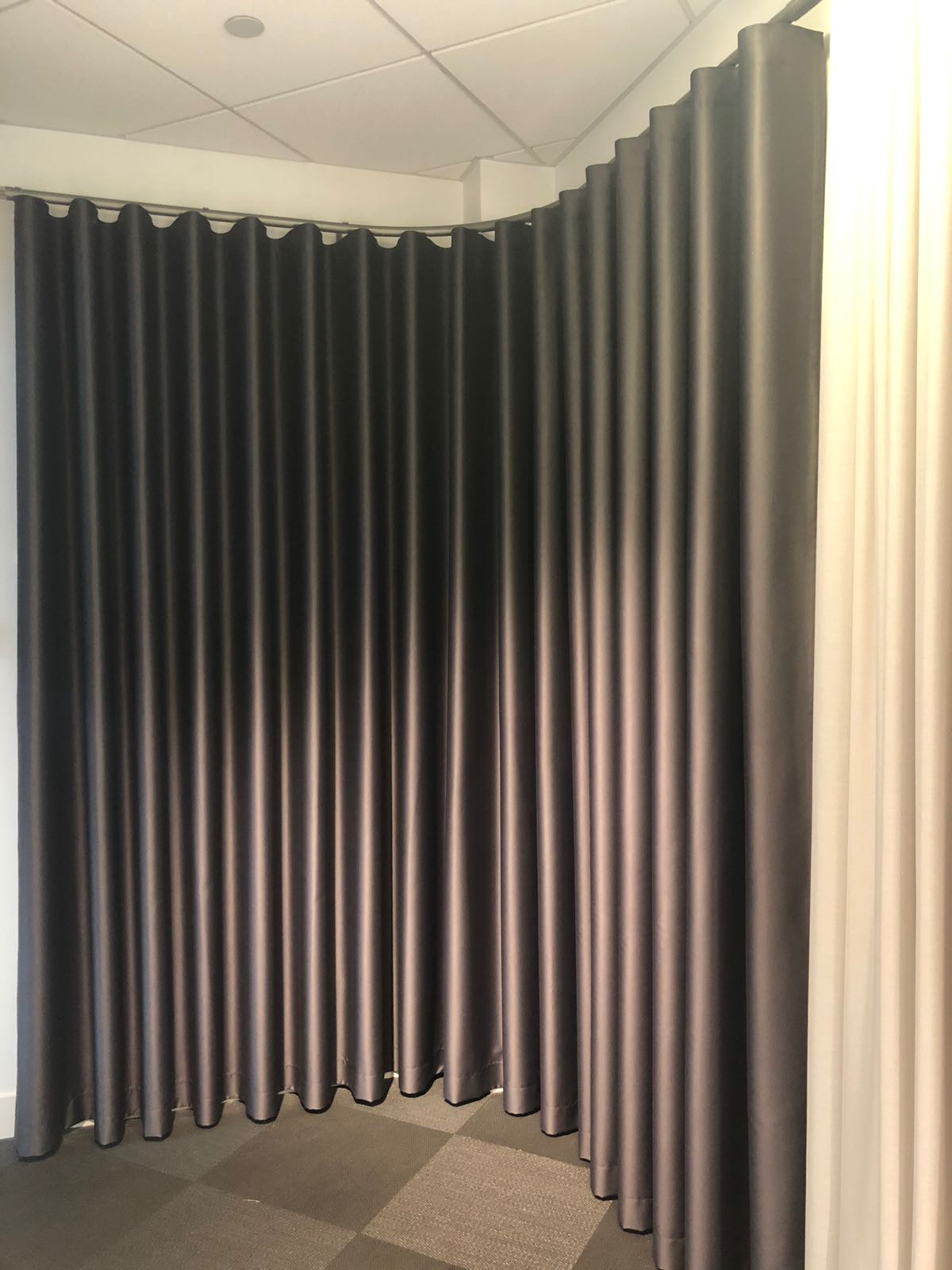 Silent Gliss Business Centre London - Curtain