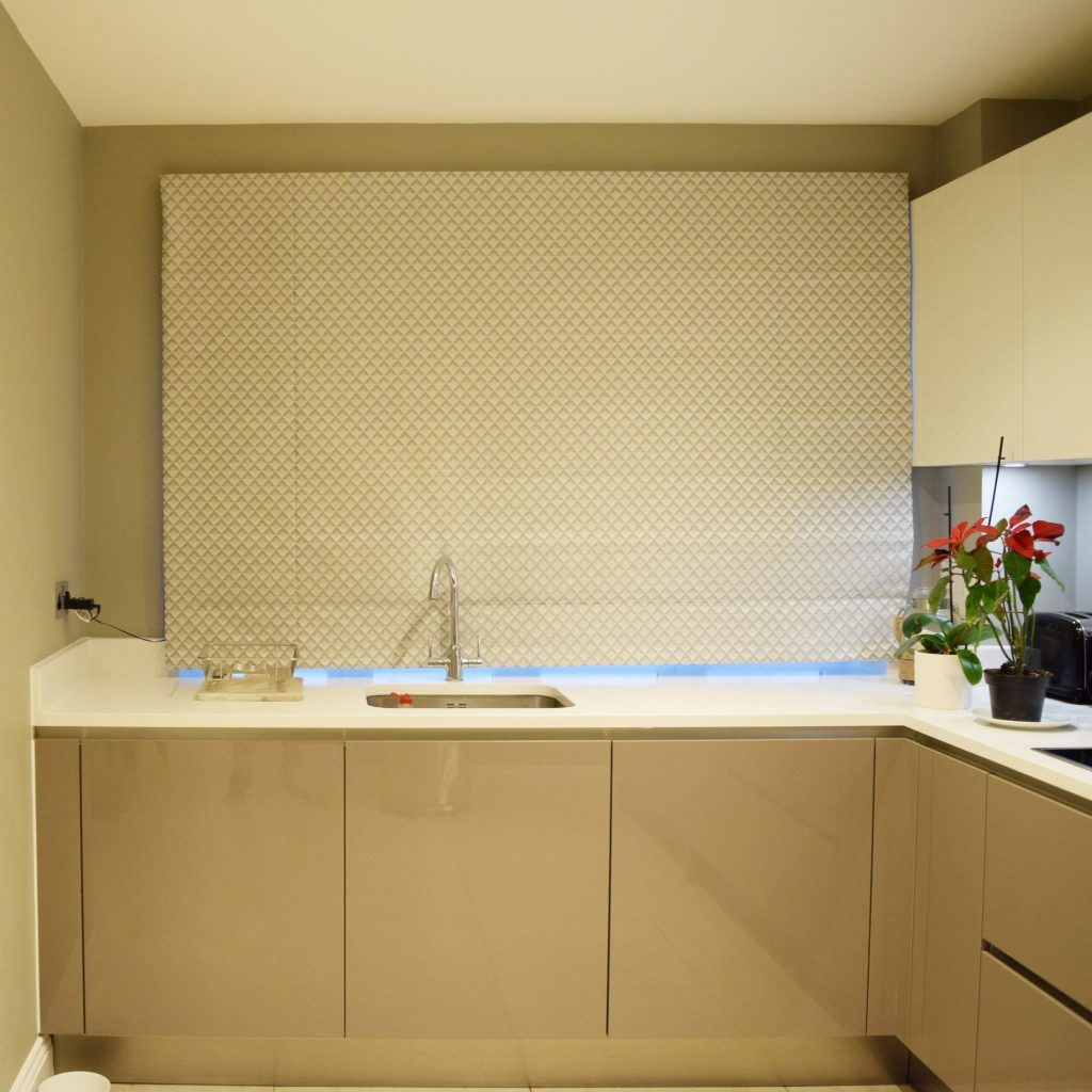 Kitchen - Roman blind closed