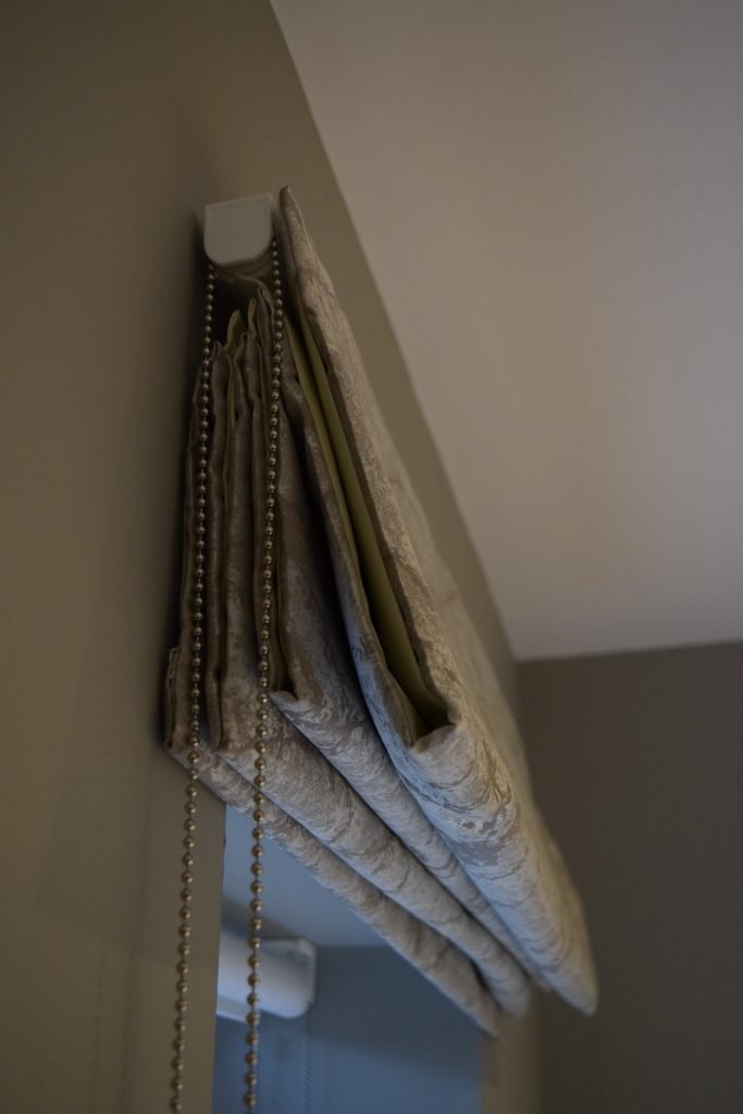 Second room - Roman Blinds close-up
