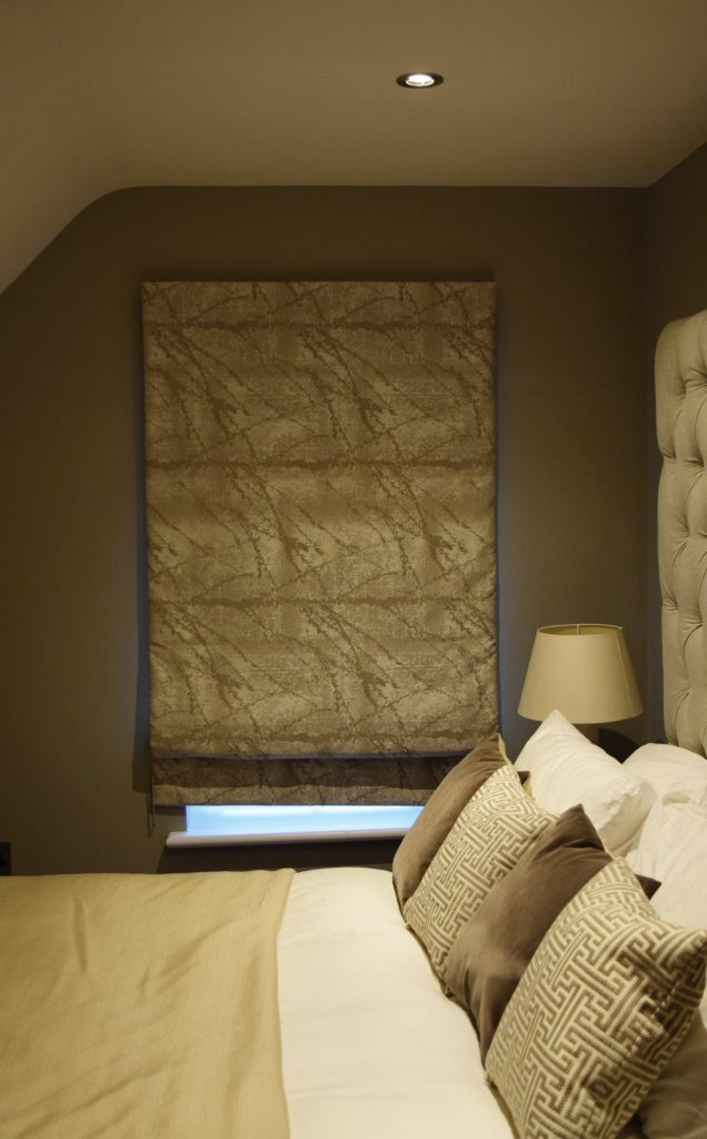 Second room - Roman Blinds closed