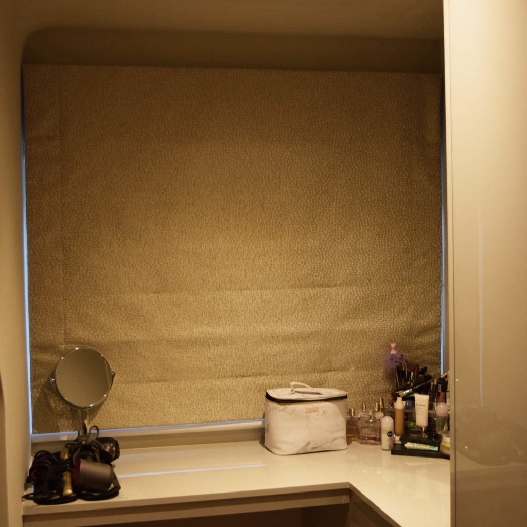 Third bedroom - Roman blinds closed